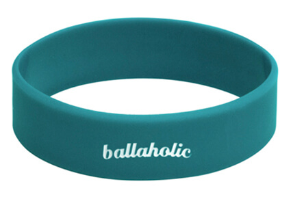 Ballaholic Logo Wide Rubberband ティールブルー