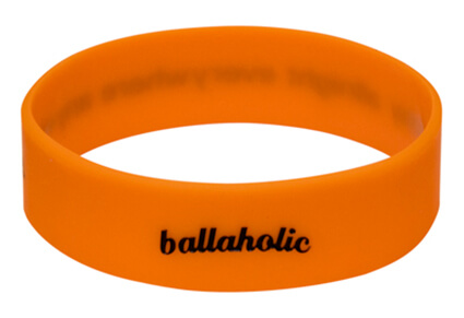 Ballaholic Logo Wide Rubberband オレンジ