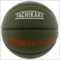 TACHIKARA Cagers Mentality Basketball オリーブ/オレンジ/白