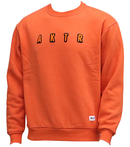 AKTR Heavy Crewneck Sweat オレンジ