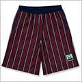 Arch Trad Stripe Shorts バーガンディ
