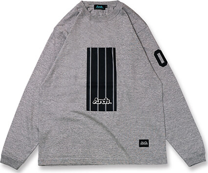 Arch Trad Stripe Box L/S 灰
