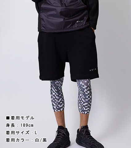 AKTR Noise Training Tights 白/黒