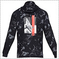 UNDER ARMOUR Baseline Flc Graphic Hood 黒/黒/白