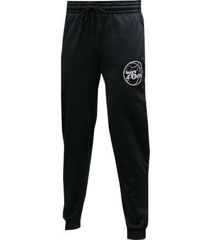 UNK NBA Black Poly Rfl Jogger 黒/シクサーズ