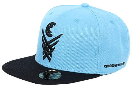CROSSOVER CULTURE X Over Snapback ブルーラグーン/黒