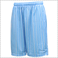 AKTR Brush Pinstripe Mesh Shorts ライトブルー