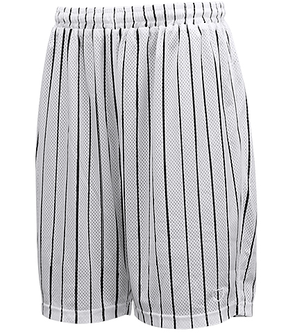 AKTR Brush Pinstripe Mesh Shorts 白