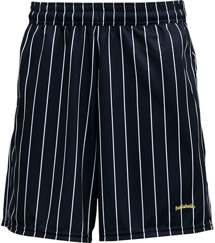 Ballaholic LOGO STRIPE Zip Shorts 黒/白