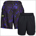 UNDER ARMOUR UA Baseline 9in Graphic Short 黒/ロイヤル/ハイビスイエロー