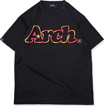 Arch Neon Outline Logo Tee 黒