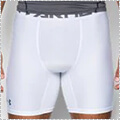 UNDER ARMOUR HG Armour 2.0 Comp Short 白/グラファイト