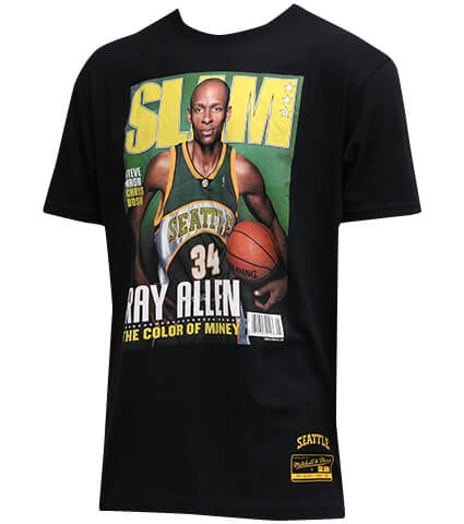 Mitchell&Ness SLAM Cover Tee R.Allen May '05 黒/レイ・アレン