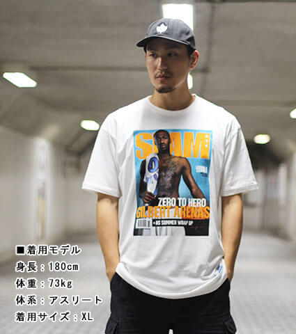 Mitchell&Ness SLAM Cover Tee G.Arenas Nov '06 白/ギルバート・アリーナス