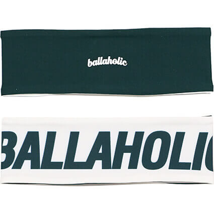 Ballaholic Reversible Headband ダークグリーン/クリーム