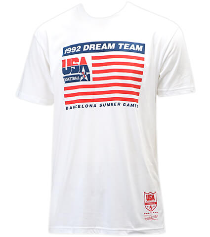 Mitchell&Ness 1992 Team Flag S/S Team USA 白