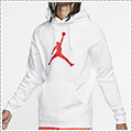 Jordan Jumpman Logo Pull Over Fleece Hoodie 白/赤
