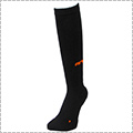 AND1 High-Supporting Knee Hi Socks 黒/オレンジ