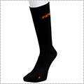 AND1 High-Supporting Crew Socks 黒/オレンジ