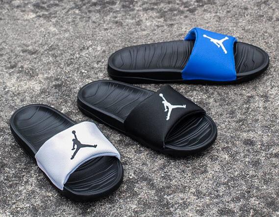 sneakers for cheap 89aa5 a165d JORDAN Break Slide 青 白 バスケットボールショップ SLAM