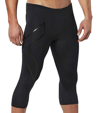 2XU Compression 3/4 Tights 黒/黒