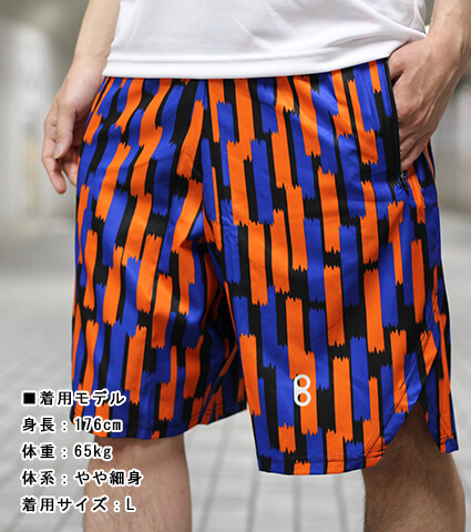 Ballist Tape Zipper Shorts 黒/オレンジ/青