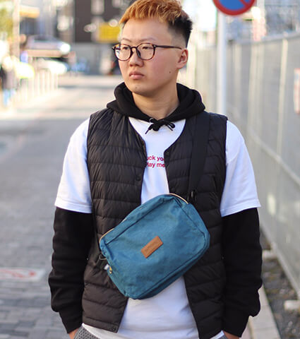 Ballaholic Ripstop City Shoulder Bag ヘザーブルー