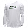 AKTR Scratch Camo Box Logo L/S Sports Tee 白