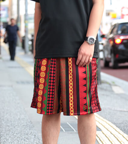 Ballist Africa Zipper Shorts 赤/黒/グリーン