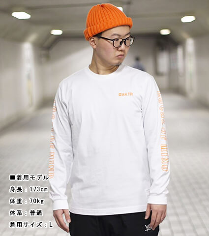 AKTR 68&BROTHERS Crew Style L/S Tee 白
