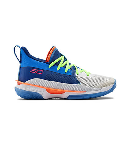 "[キッズサイズ]UNDER ARMOUR UA GS Curry 7 ""Super Soaker"" ウォーター/白/青"