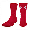 UNDER ARMOUR UA Next Level Crew Socks 赤