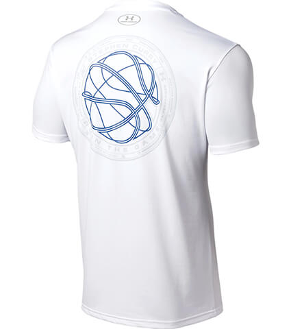 UNDER ARMOUR UA SC30 Tech Ball Logo Tee 白