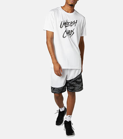 UNDER ARMOUR UA Baseline Tech Qrtly Mantra Tee 白
