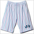 AKTR Pencil Stripe Mesh Shorts 白