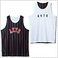 AKTR Pencil Stripe Reversible Tank 黒/白