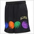 Ballaholic College Logo Ball Mark Zip Shorts