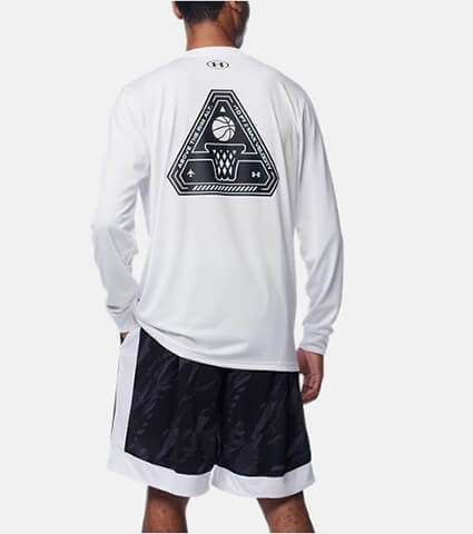 UNDER ARMOUR UA TECH Delta Logo LS 白