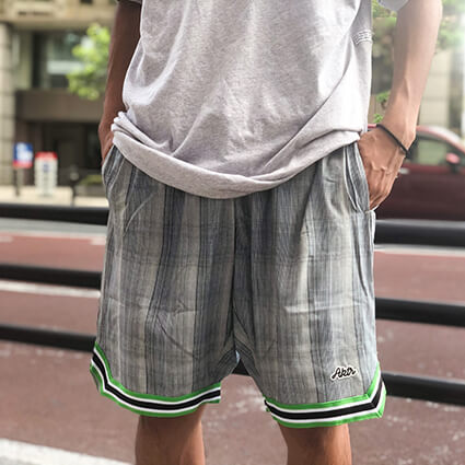 AKTR Glen Check Shorts ベージュ