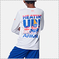 [キッズサイズ]UNDER ARMOUR UA Y TECH Heatin' Up LS 白