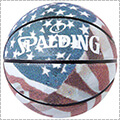 SPALDING Stars and Stripes Rubber Basketball 赤/白/青/7号球