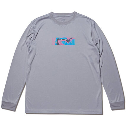 AKTR Multicolor Box Logo Sports L/S グレー