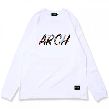 Arch Marbling Lettered L/S 白