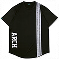 Arch Rough Stripe Tee 黒