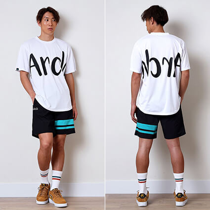 Arch Side Border Shorts 黒