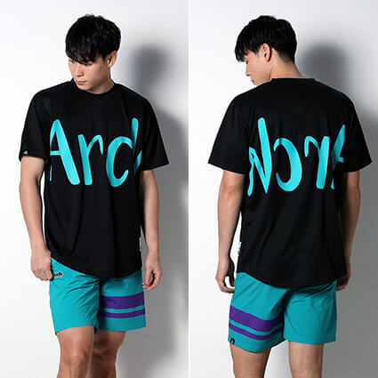 Arch Side Border Shorts ピーコック